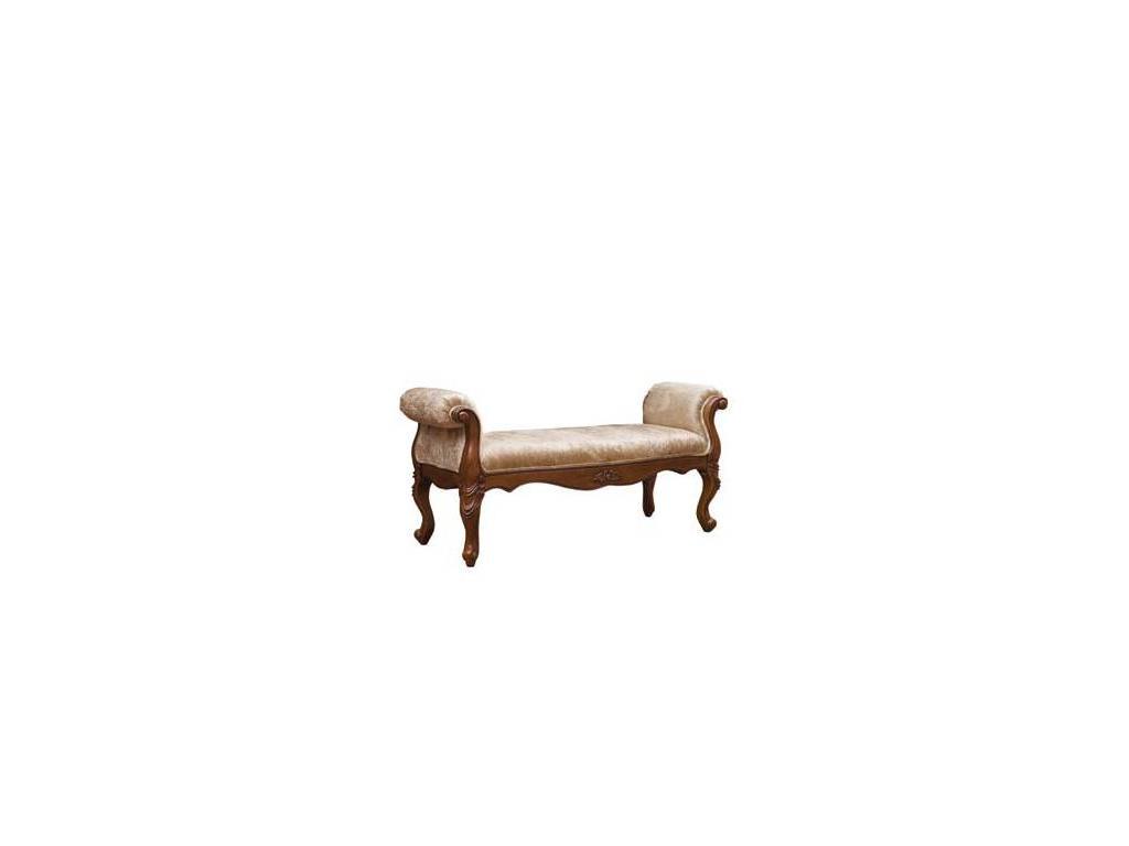 Carpenter: 230: банкетка  (итальянский орех) ткань BH06-3
