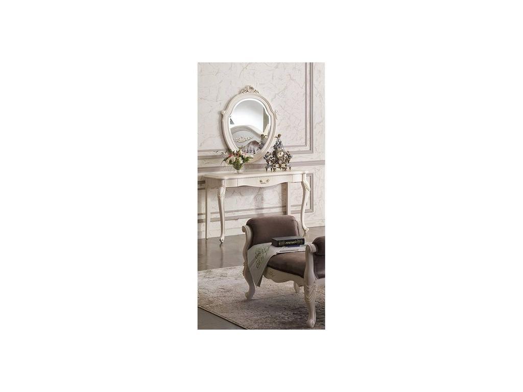 Carpenter: 230: стол туалетный с зеркалом  (слоновая кость)