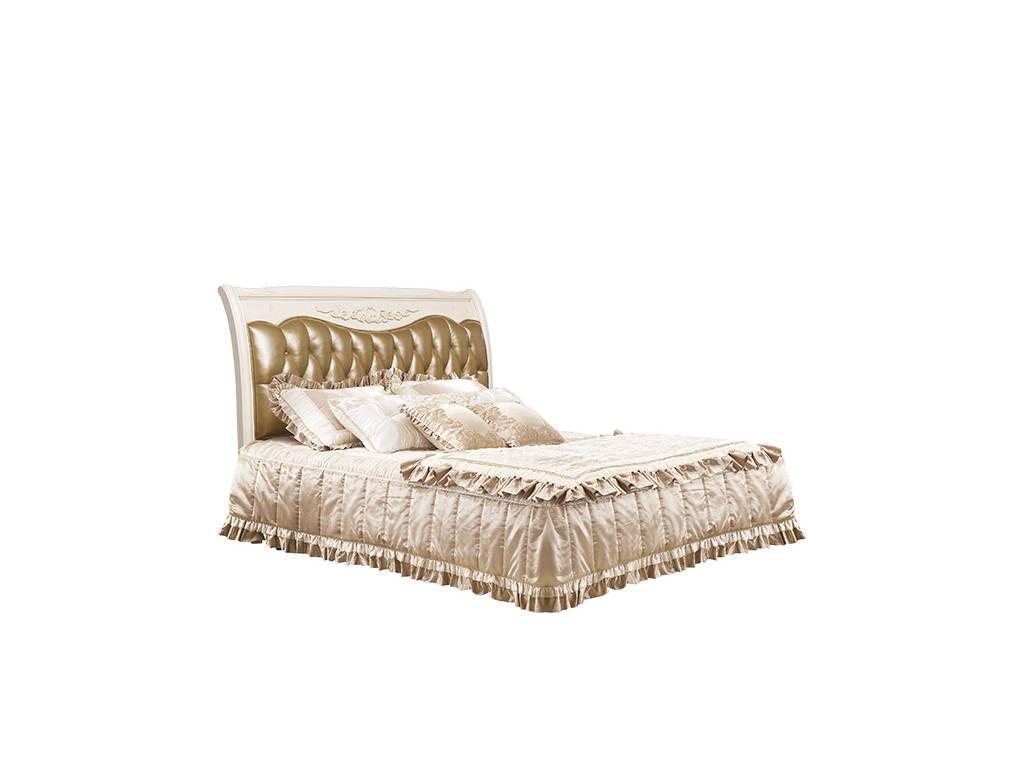 Carpenter: 230: кровать160х200  А кожа 859 (слоновая кость)