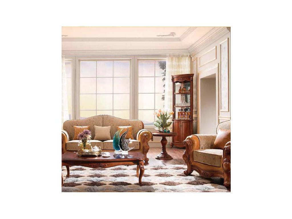 Carpenter: 230: витрина угловая  (итальянский орех)