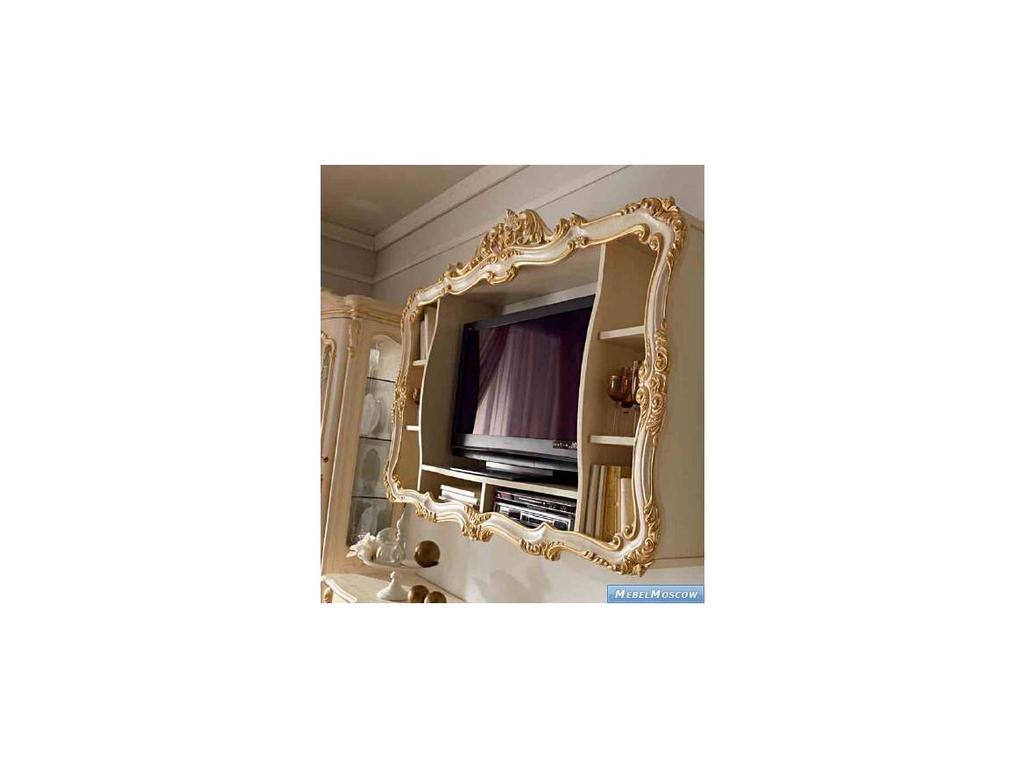 А и М Ghezzani: Роял: панель для телевизора  (слоновая кость, золото)