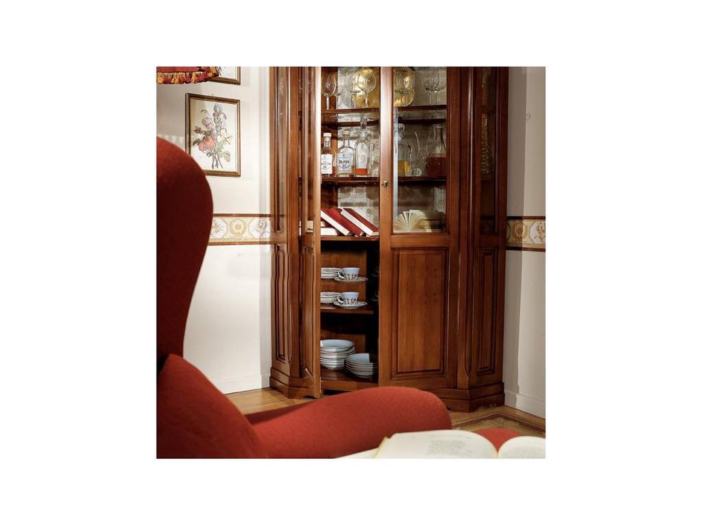Cavio: Fiesole: витрина угловая 2-х дверная  (орех фиорентино)