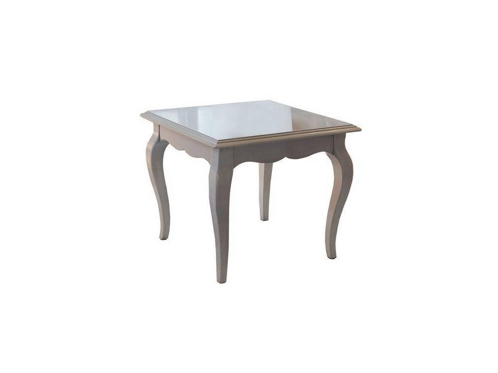 Cavio: Madeira Bianco: стол журнальный квадратный  (белый патинированный)