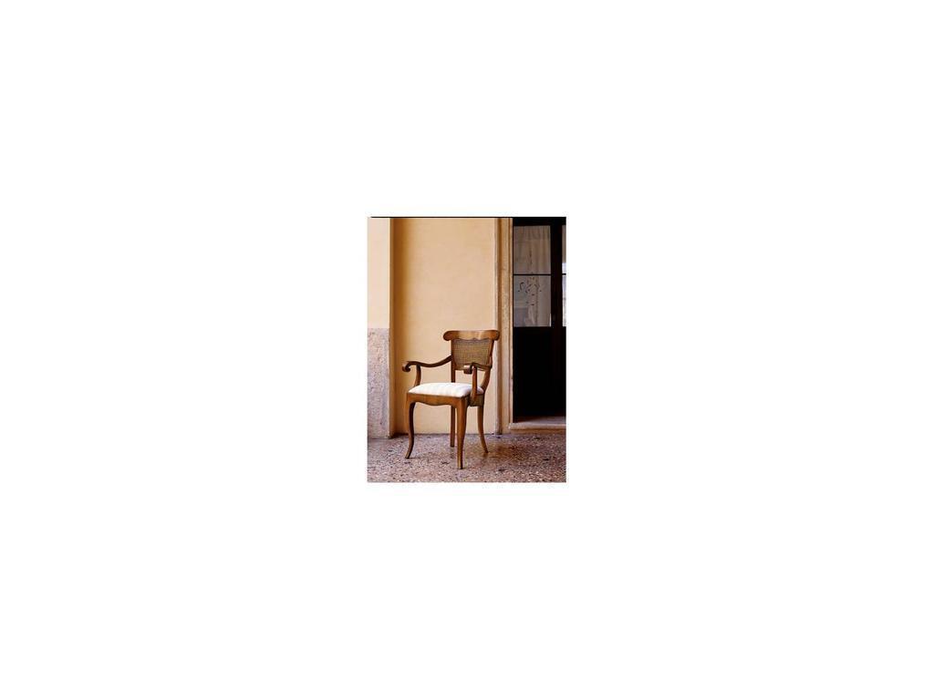 Cavio: Мадейра Intarsio: полукресло спинка трость  ткань (черешня Мадейра)