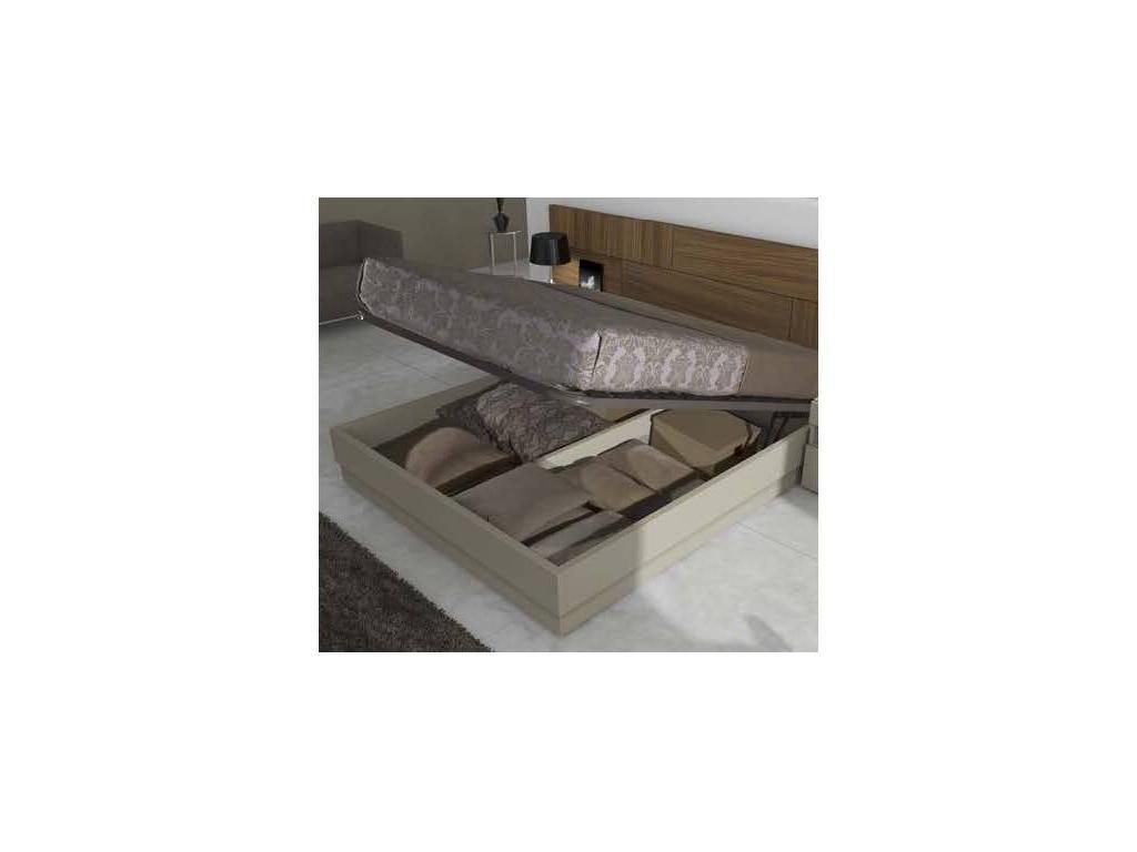 Egelasta: Brick: кровать двуспальная 150х190 с подъемным мех-м (американский орех, беж)