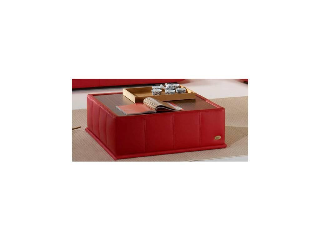 Nieri: Tender: стол журнальный кат. Extra (кожа коричневая, LC 75 M)