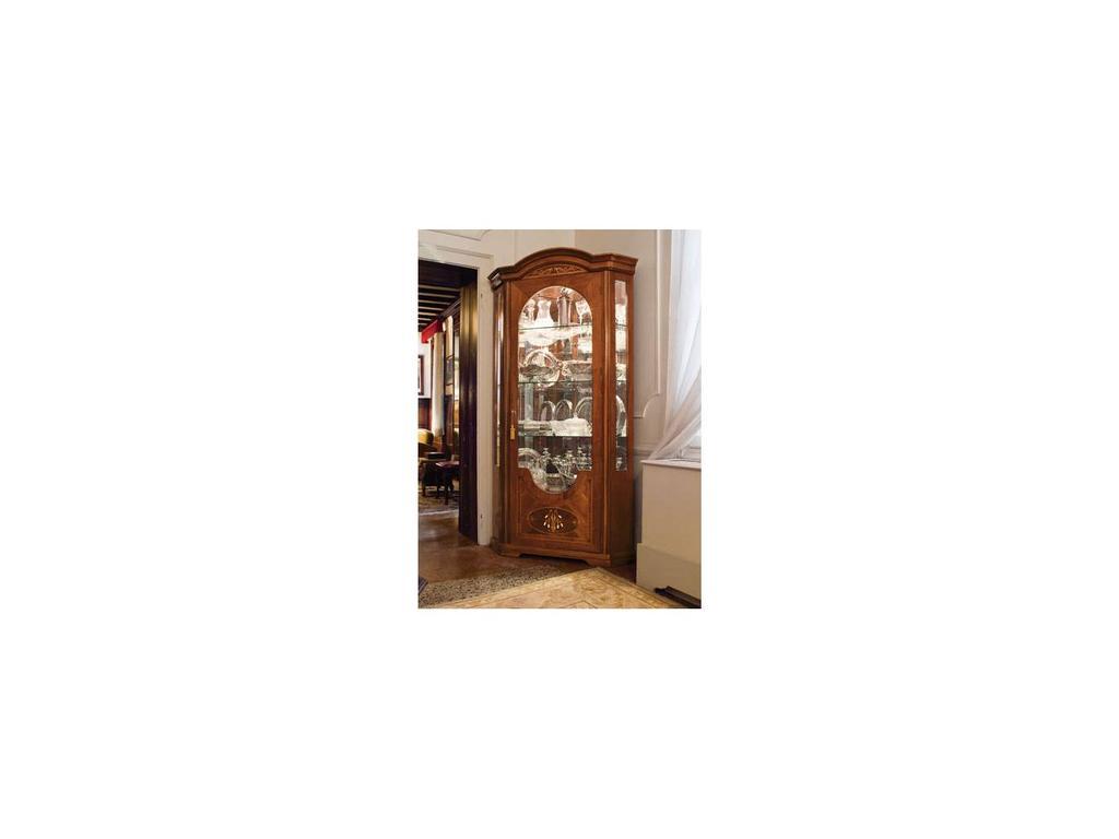 ALF: Montenapoleone: витрина угловая с подсветкой  (орех состаренный)