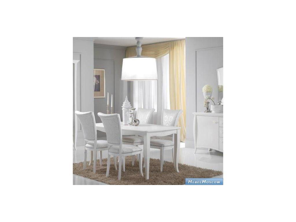 Cinova: Ninfea: стол обеденный прямоугольный (белый)