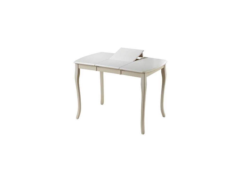 TS Multi Global: Alicante Т2: стол обеденный раскладной 90/129 (Butterwhite)