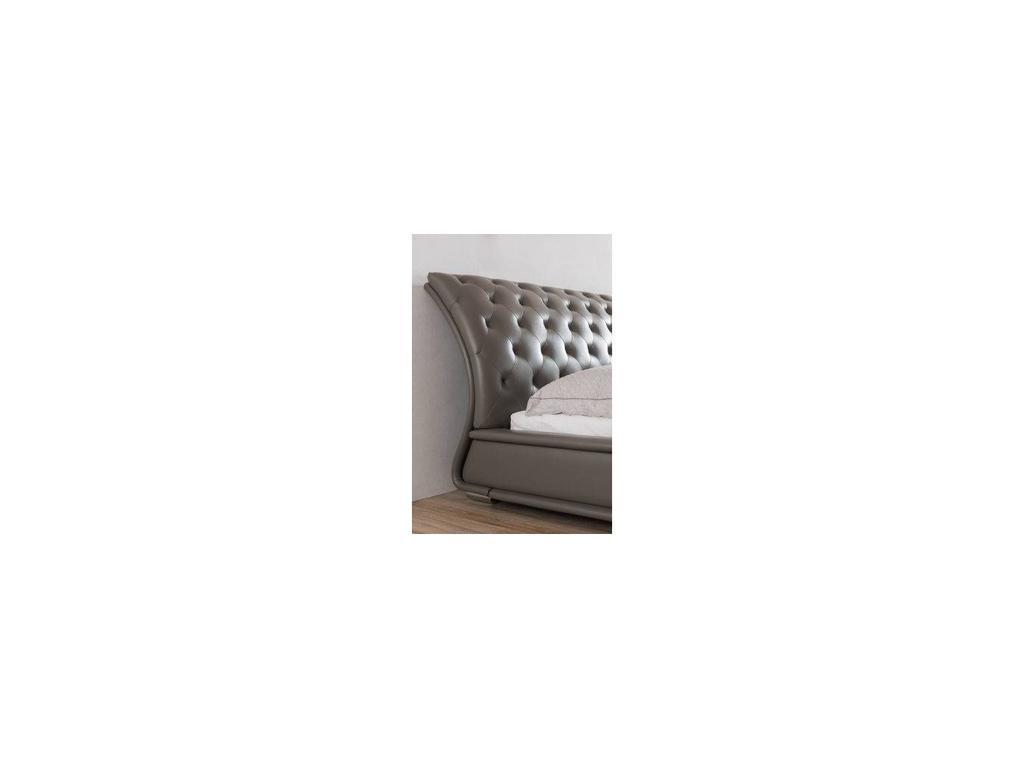 ESF: 1397: кровать двуспальная 160х200 (экокожа, серый)