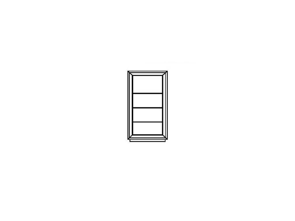 DeMiguel: Brera: витрина 2-х дверная на цоколе  (белый 105, золото 117)