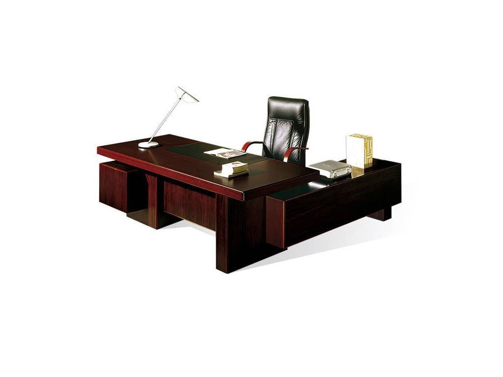 Шен-Жен: стол руководителя письменный левый  (махагон)