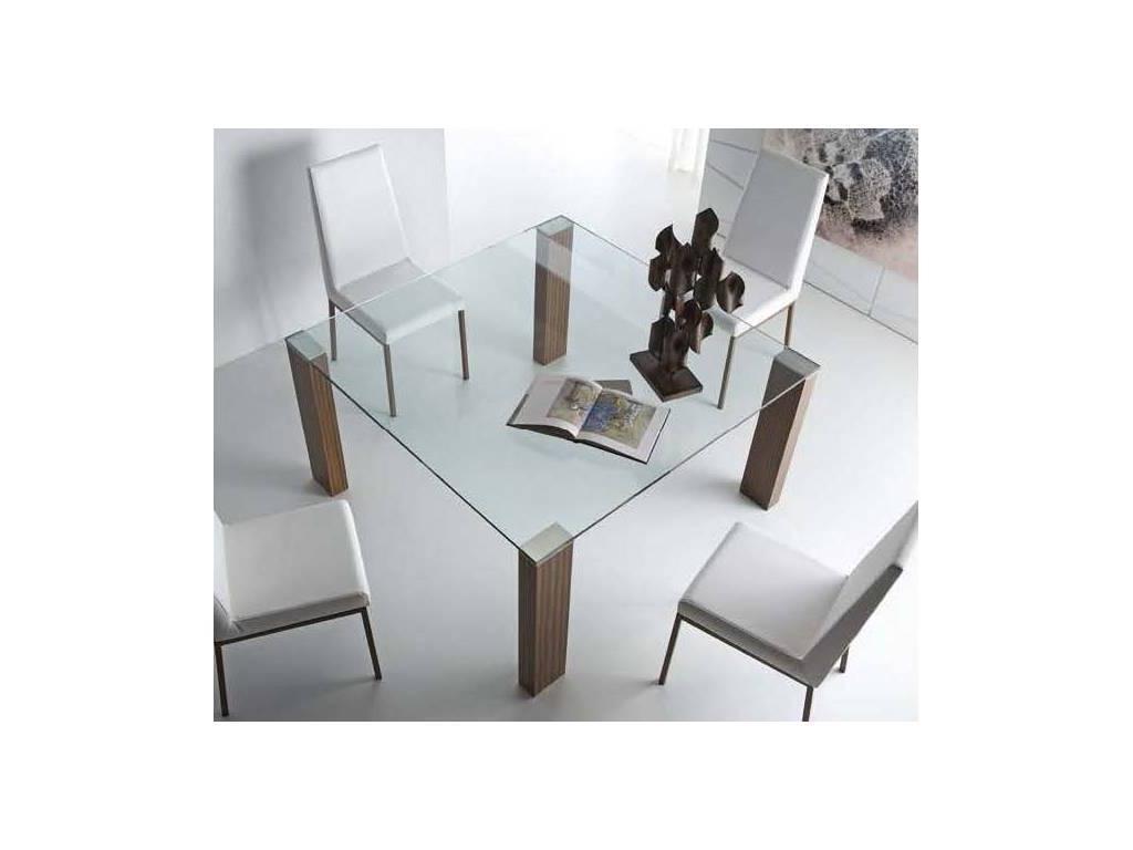 RamiroTarazona: TEMPO: стол обеденный (vetro, nogal patino)