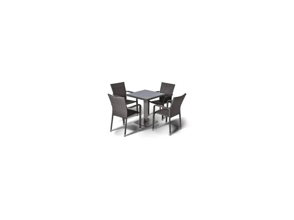 4SIS: Колекто: обеденная группа  (серо-коричневый)