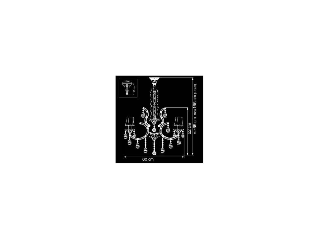 Osgona: PRINCIA: люстра  6 x E14 max 40W (белый, прозрачный)