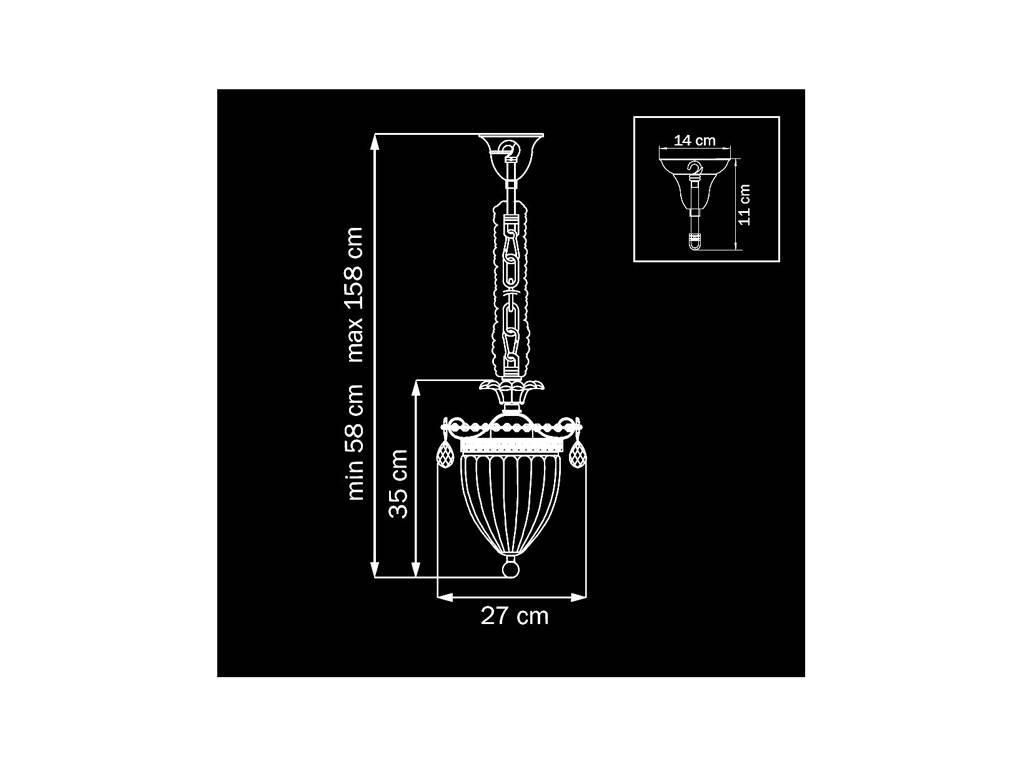 Osgona: SCHON: люстра  3 x E14 max 60W (серебро)
