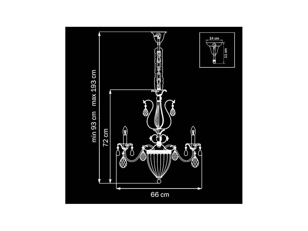 Osgona: SCHON: люстра  11 x E14 max 60W (серебро)