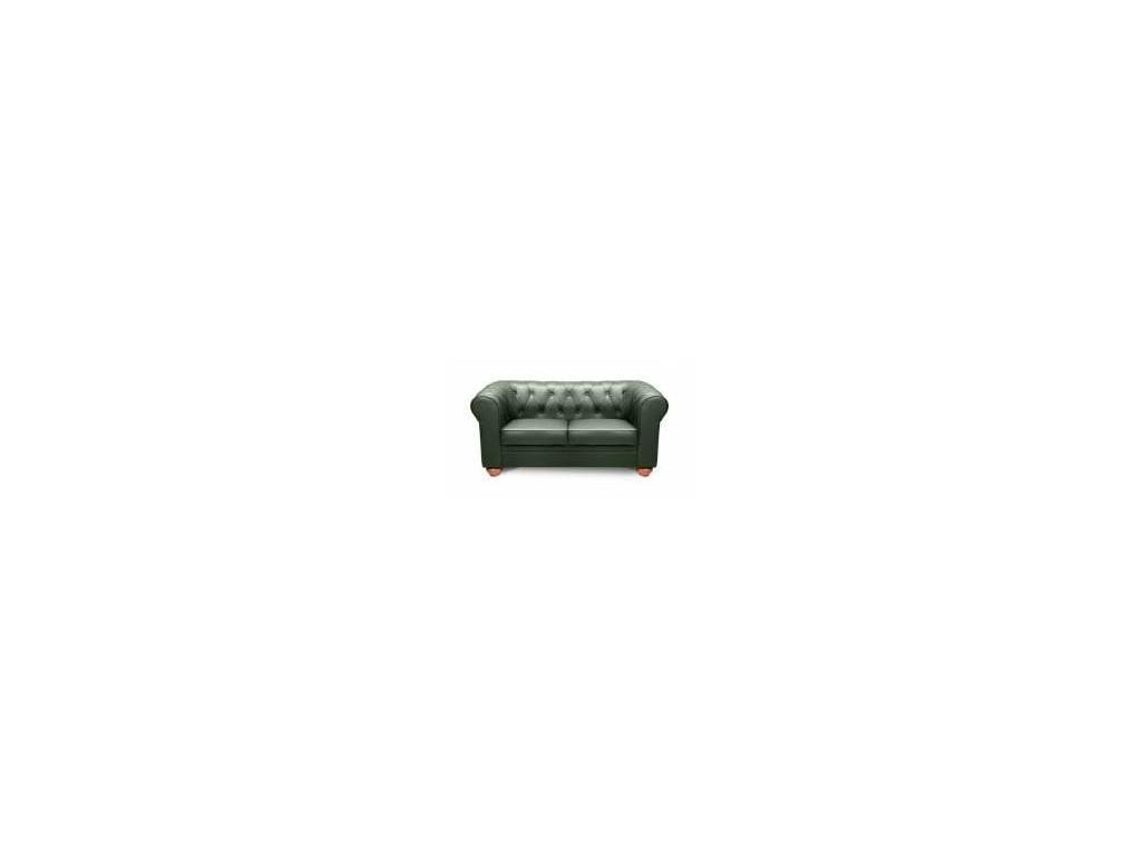 Ришар: диван 2-х местный  (кожа, зеленый)