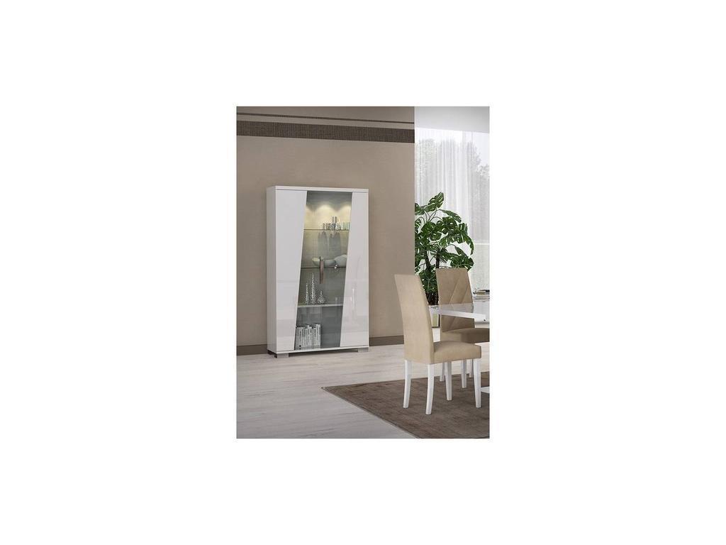 Status: Lisa: витрина 2-х дверная  (белый)