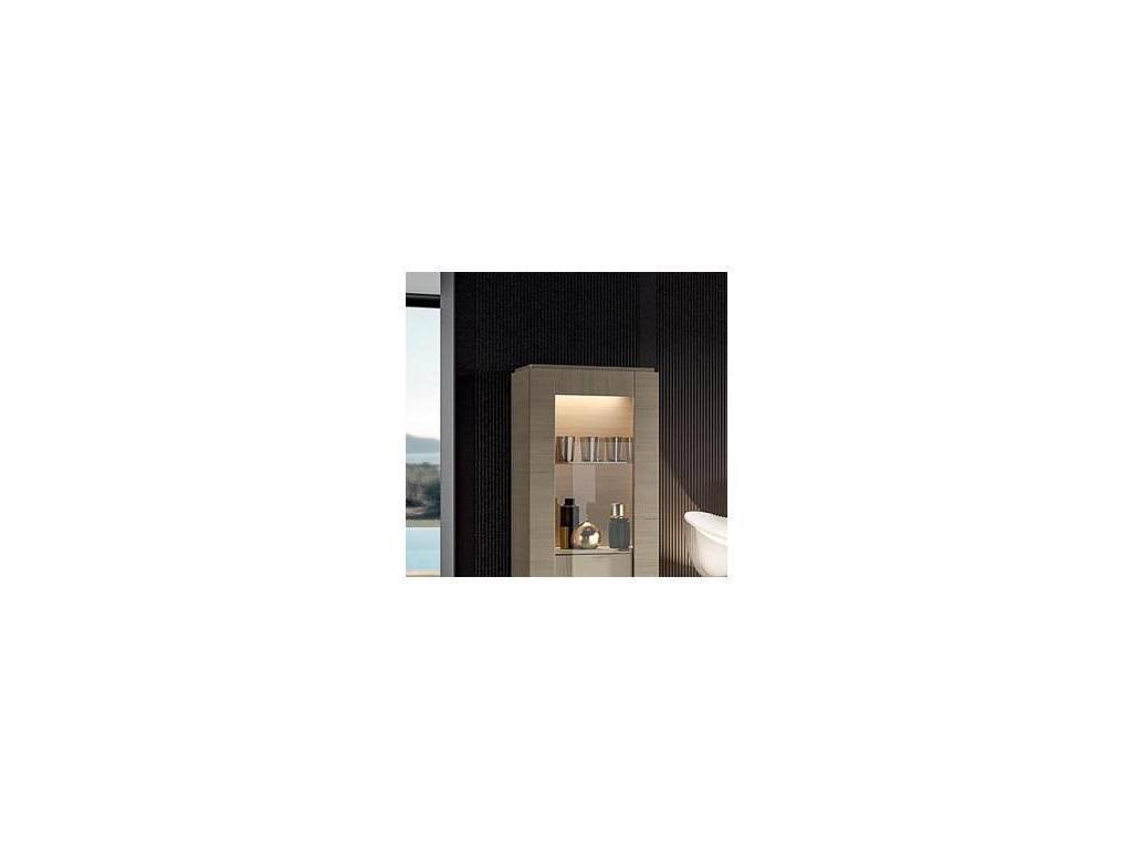 Status: Perla White: подсветка  для 1 дв витрины (белый дуб)