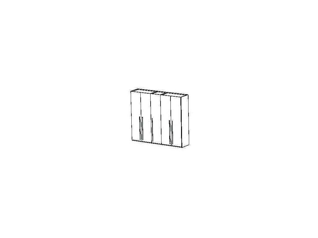 Status: Elite: шкаф 5-ти дверный  (Grey)