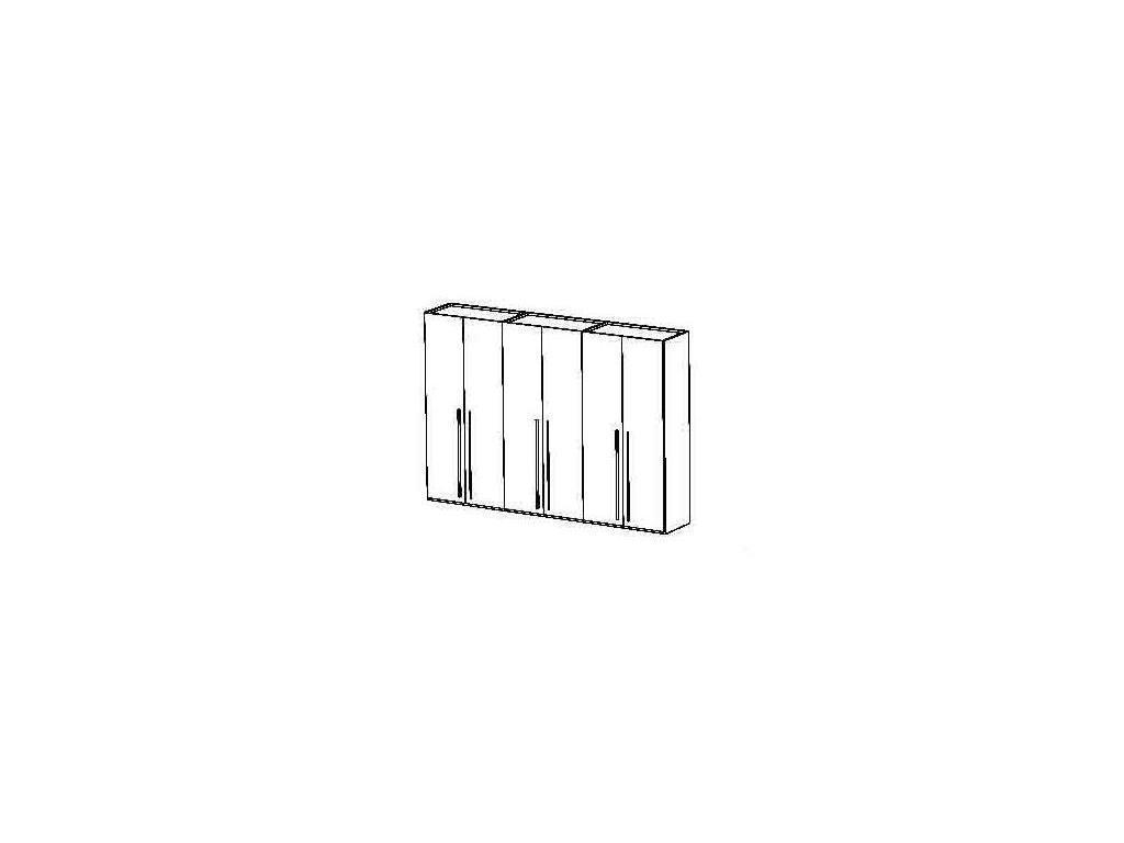 Status: Elite: шкаф 6-ти дверный  (Grey)