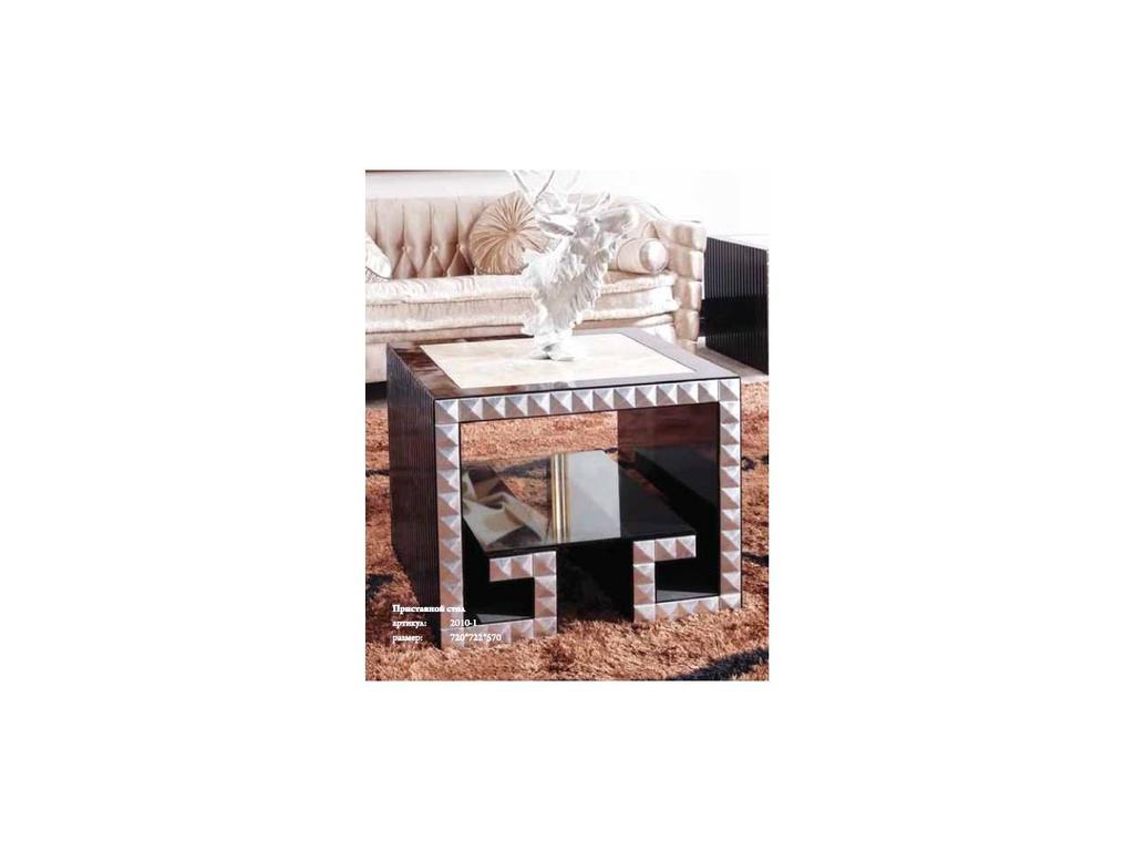 Effe Studio: Kristall: стол приставной  (черный лак/серебро)
