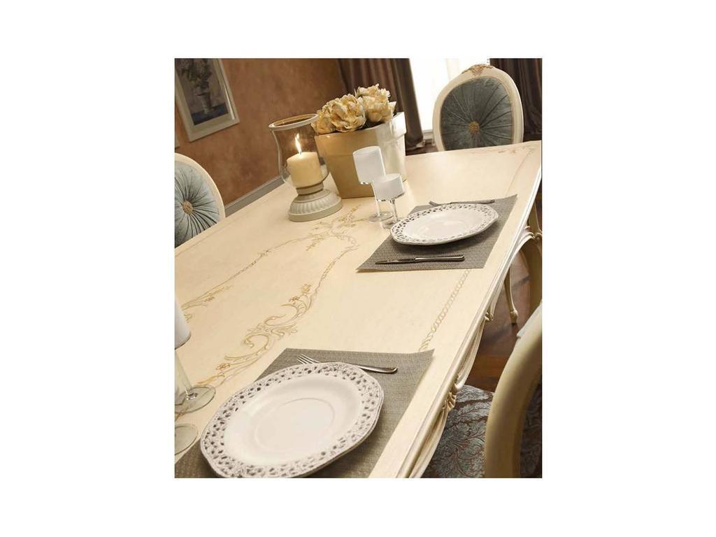 Valderamobili: Principe: стол обеденный на 8 человек  (крем)