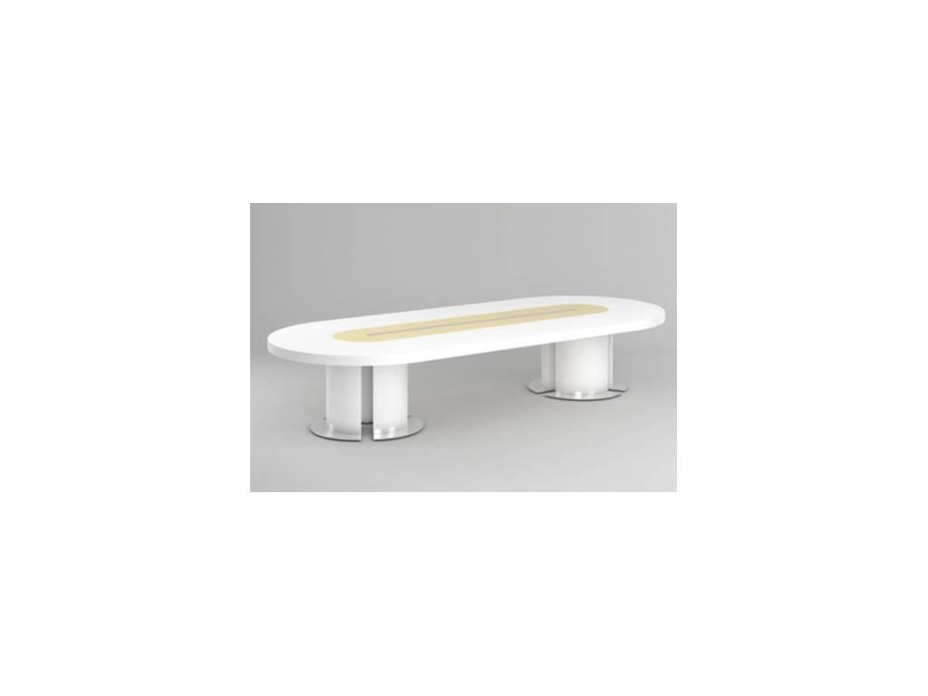 DAO: Business: стол переговорный  (белый глянец)