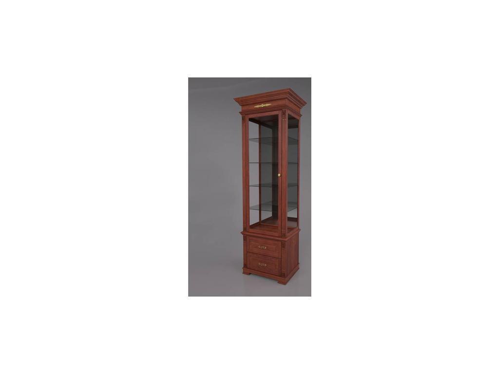 Arco: Decor: витрина 1 дверная левая  (орех)