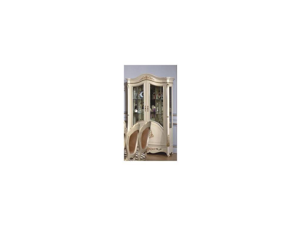Fanbel: Моника: витрина 2-х дверная  (слоновая кость)