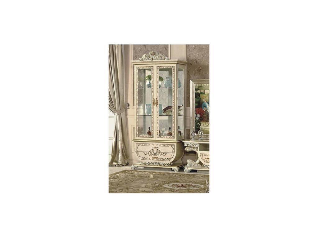 Fanbel: Принцесса: витрина 2-х дверная  (слоновая кость)