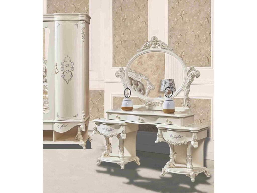 Fanbel: Наполеон: стол туалетный с зеркалом  (беж)