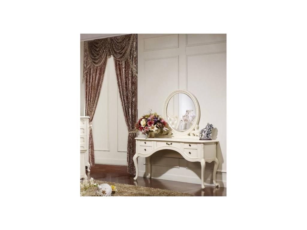 Fanbel: Лючия: стол туалетный  с зеркалом (белый)