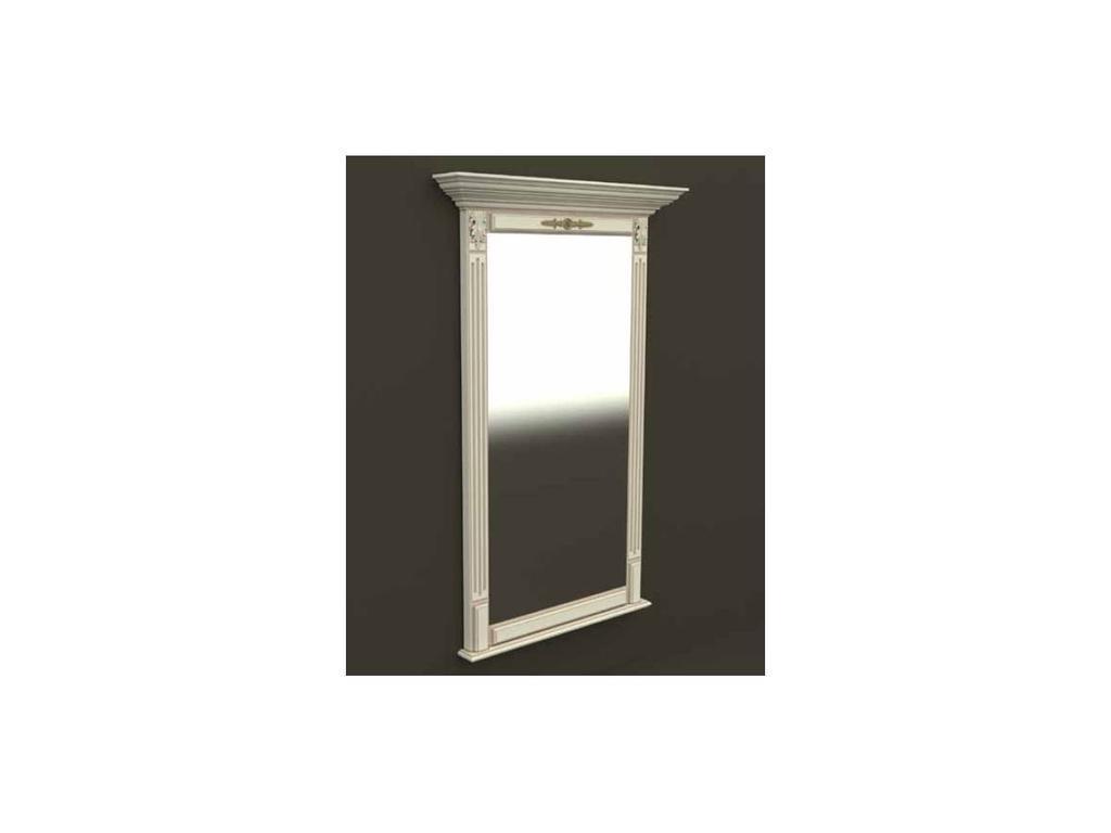 Arco: Classica: зеркало  в прихожую (бежевая, патина- коричневая)