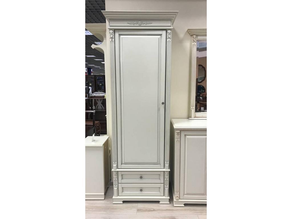 Arco: Classica: шкаф 1 дверный  (белый, патина- коричневая)