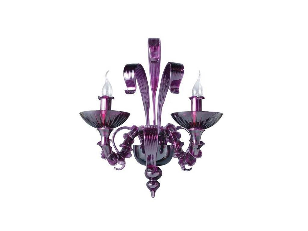 Donolux: Classic: бра  двухрожковое (фиолетовый)