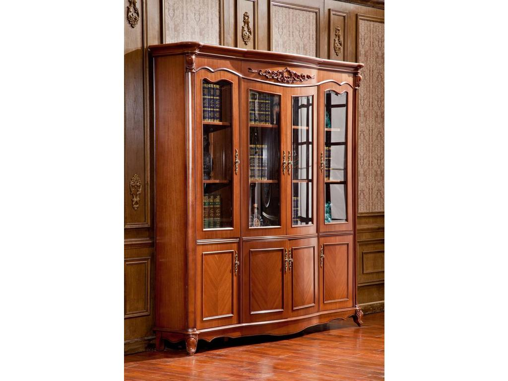 Мебель для дома / шкаф книжный четырёхдверный.