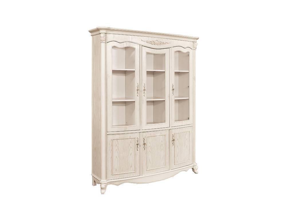 Carpenter: 230: шкаф книжный  3-х дверный (слоновая кость)