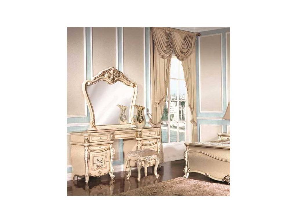 AV: Adelaide: стол туалетный с зеркалом (слоновая кость)