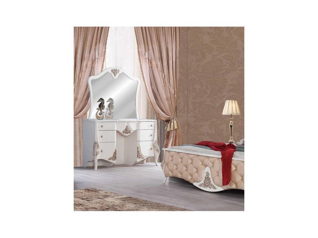 AV: Merida: стол туалетный с зеркалом (слоновая кость/золото)
