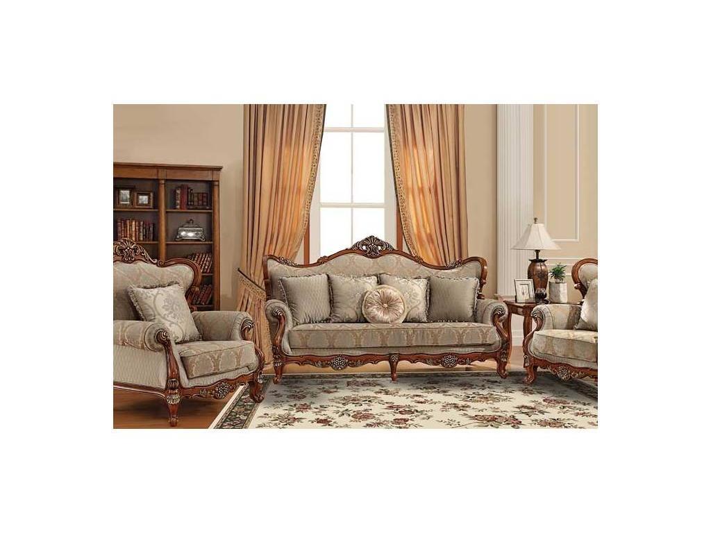 AV: Baron: диван 3-х местный  (орех, ткань)