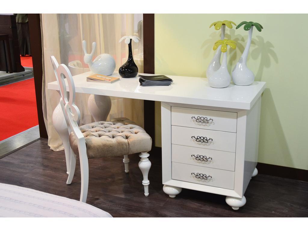 5215962 fratelli barri: palermo: стол письменный (белый блес.