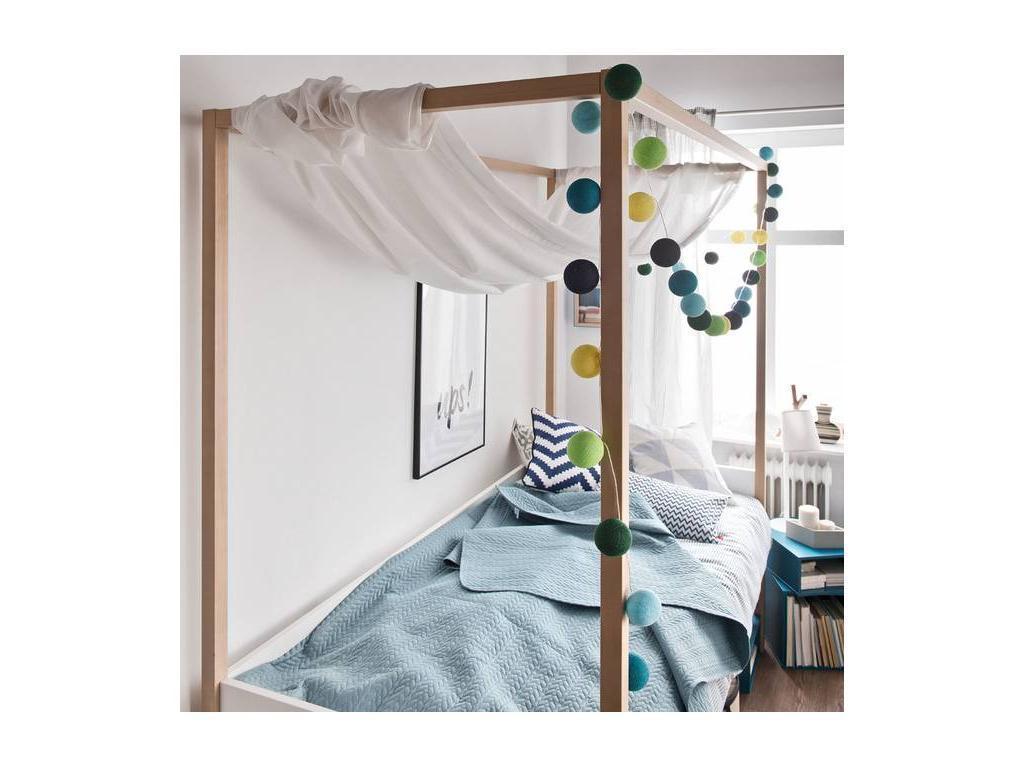 Vox: 4YOU: кровать 90х200  (белый, дуб)