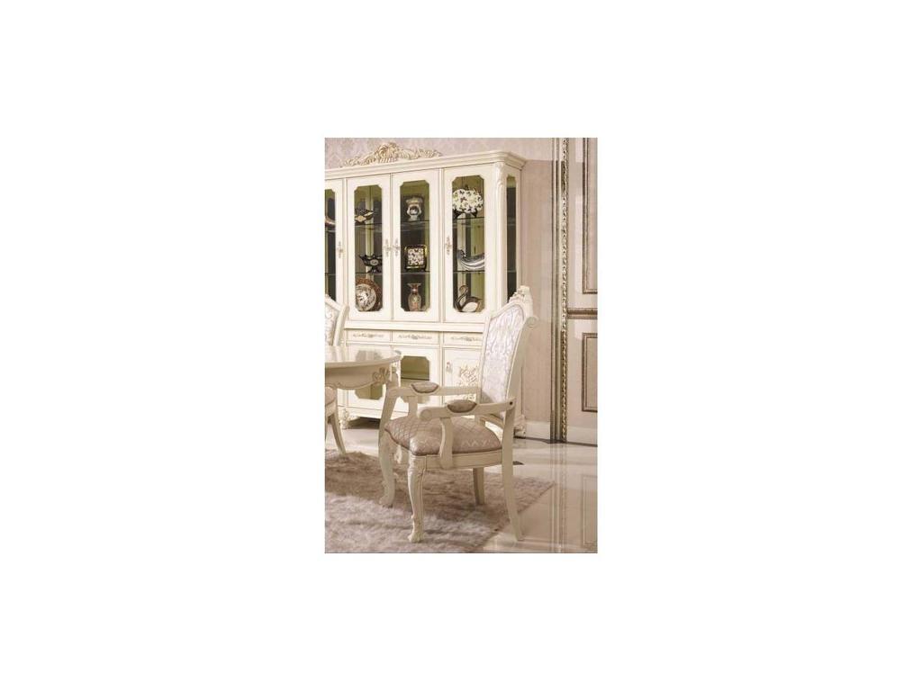 AV: Annette: стул с подлокотниками  (слоновая кость, ткань)