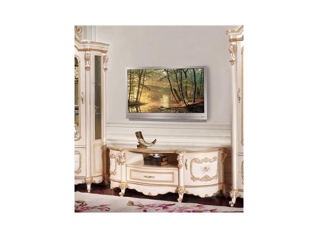 AV: Layma: тумба под телевизор  (слоновая кость, золото)