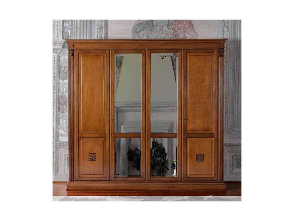 Saoncella: Puccini: шкаф 4-х дверный  с зеркалами (вишня)