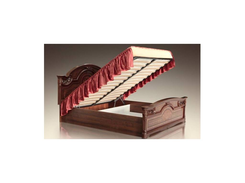 ЯМ: Карина-1: кровать 160х200 с изножьем - шелкография с п/м (орех)
