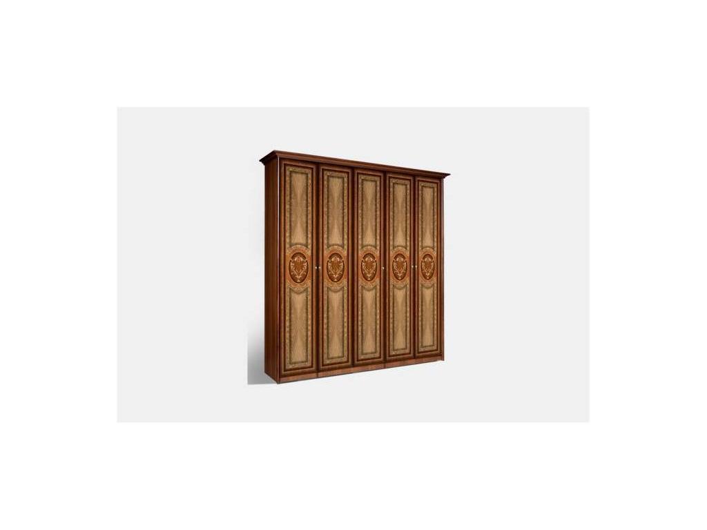 ЯМ: Карина-1: шкаф 5-ти дверный без зеркал (орех)