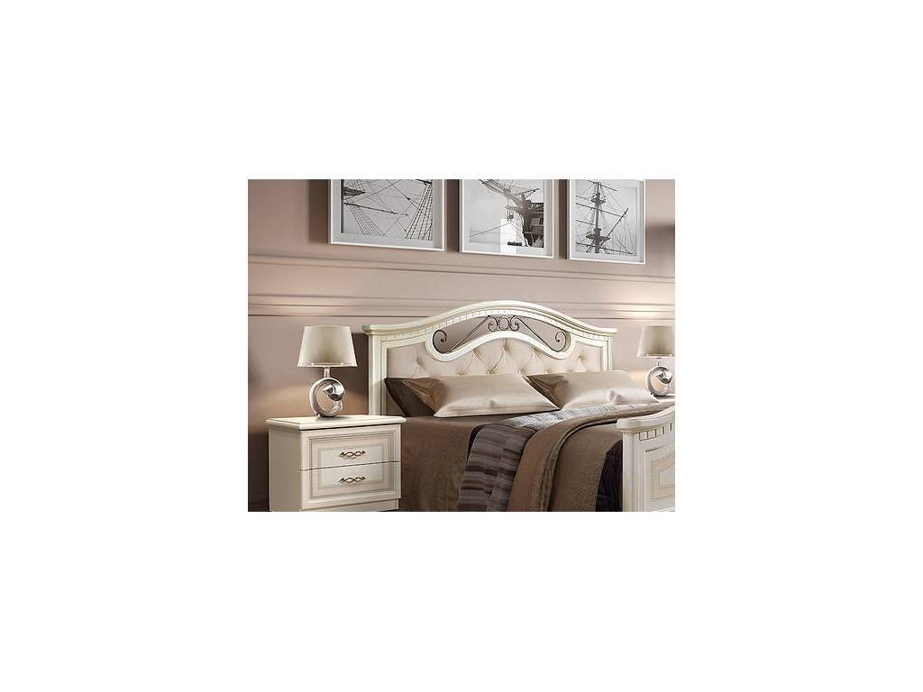 ЯМ: Анна: кровать  160х200 с мягким элементом (крем)